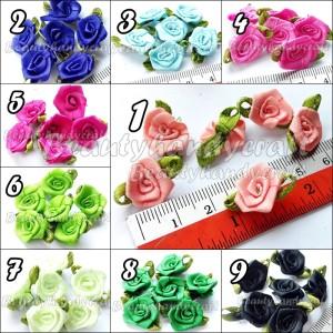 per lusin bunga kucai mini daun 0,5 inchi banyak warna
