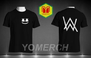 Baju/ Kaos alan walker feat marshmello simple keren (Must Buy) YOMERCh