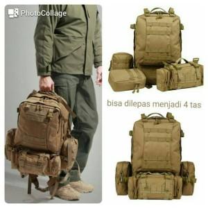 tas ransel pria import/tas laptop army/tas outdoor 4 in 1