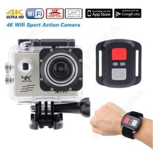 Sports Action Camera Wifi 4K 16MP Ultra HD Waterproof / Remote