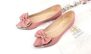 flatshoes sepatu balet pink pita murah