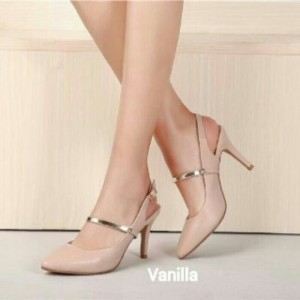 high heel vanilla tali sepatu kerja murah
