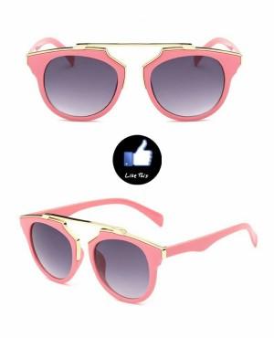 Kacamata UV400 Protection Oculos De Sol warna Merah Muda