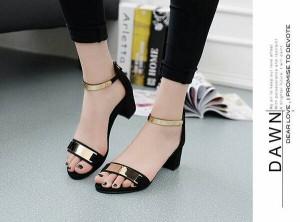 Grosir Sepatu Wanita Murah - High Heels Hitam R63