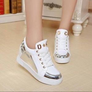 Grosir Sepatu Wanita Murah - Sepatu Kets Silver D&C