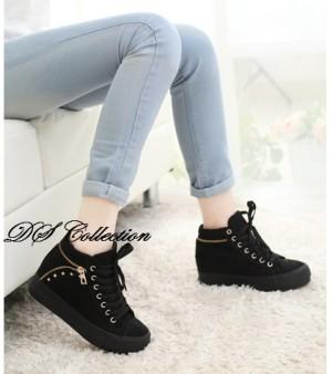 Grosir Sepatu Wanita Murah - Boots R01 Hitam