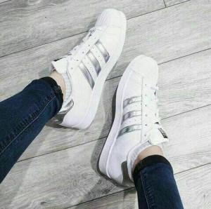 Grosir Sepatu Wanita Murah - Adidas Silver KM35