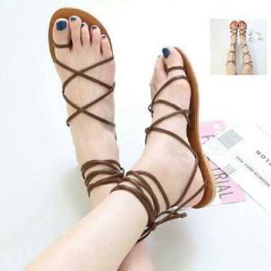 Grosir Sepatu Wanita Murah - Sandal Flat Tali W26