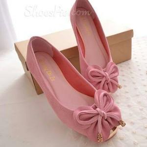 Grosir Sepatu Wanita Murah - Flat Shoes Kupu-Kupu PINK