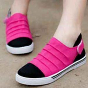 Grosir Sepatu Wanita Murah - Flat Shoes Sneaker Pink