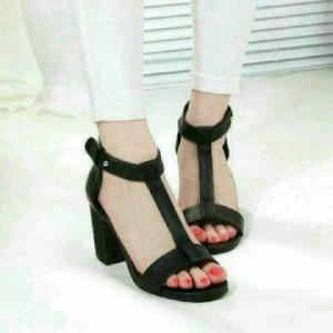 Grosir Sepatu Wanita Murah - High Heels Hitam YD37