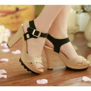 Grosir Sepatu Wanita Murah - High Heels HL01 Cream