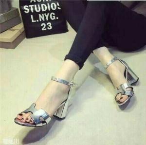 Grosir Sepatu Wanita Murah - Hermes Silver YD36