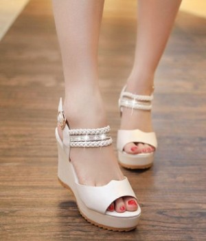 Grosir Sepatu Sandal Wanita Murah - Wedges Jessie SO11