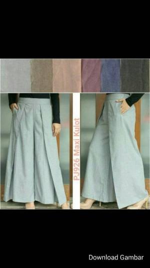 celana kulot panjang model maxi pants new model cewe/wanita