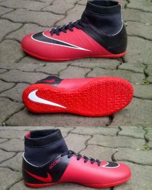 Sepatu futsal Nike mercurial superfly hitam kombinasi merah 39-43