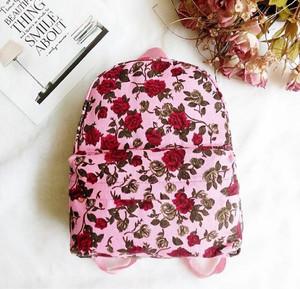 floral flowee daisy bunga backpack bagpack imported ransel mini bag or