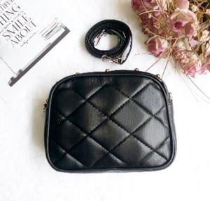 tas hitam black polos selempang mini sling bag premium korea tumblr st