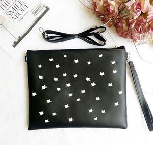 tas slempang clutch star stars bintang hitam black polos lucu murah