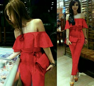 JUMPSUIT FELICIA RED