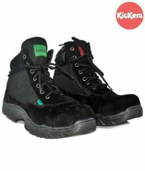Sepatu Kickers Tactical Safety Boot Cream&Black
