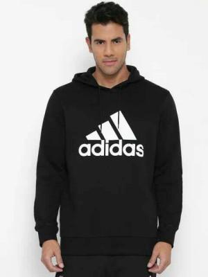 Jaket/Hoodie/Sweater Adidas Black Logo Printed Sweatshirt