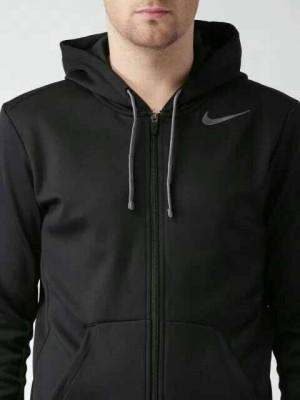 Jaket/Hoodie/Sweater Nike Men Black Swoosh With Grey Logo