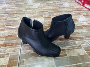 sepatu wanita boot boots cewe cewek pantofel pdh kulit sapi asli