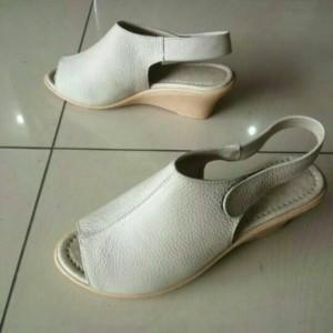 sandal sepatu wanita sendal tali wedges kulit sapi asli