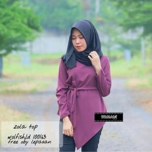 zolla blouse purple lavender - tunik - atasan wanita - baju murah