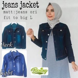 jeans jaket wanita - outer murah