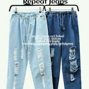 ripped jeans pants - celana murah - jogger - bawahan wanita