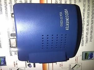 Adapter Converter VGA to RCA Premium Blue Colour