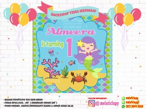 MERMAID - BACKDROP BACKGROUND BIRTHDAY PARTY