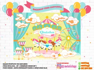 CAROUSEL - BACKDROP BACKGROUND BIRTHDAY PARTY