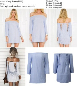 41861 - Sexy Stripe - Dress le170117 import