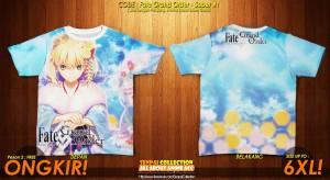 Kaos Anime Fullprint - Fate Grand Order Firts Order - Saber #1