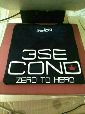 Tshirt 3 Second, baju, kaos oblong pria Three Second