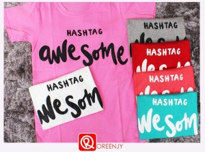 Kaos hashtag awesome