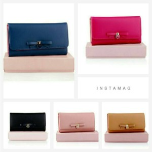 New Collection Cute Ribbon Korean Wallet