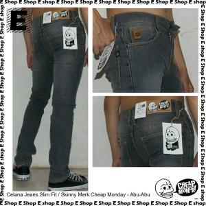 Celana Jeans Cheap Monday abu Jeans skinny