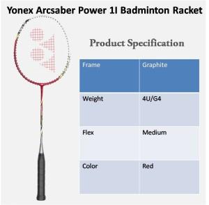 Raket Badminton Arcsaber Power 1i ! 100% original Yonex Sunrise !