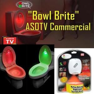 Motion Activated Toilet Lamp Bowl Brite Smart Led Light Sensor Gerak