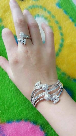 set chanel silver