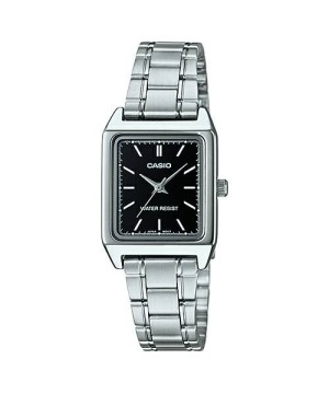 Jam tangan simple casio wanita LTP-V007D-1EUDF anti air bentuk kotak