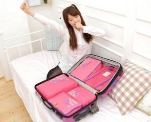 Tas Travel organizer 3 in 1 (3 tas / set)