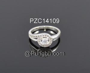 Cincin putih sirkonia PZC14109