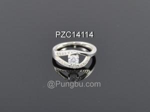 Cincin Putih Motif Mata PZC14114