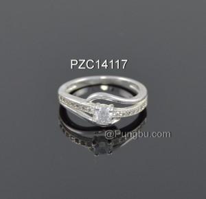 Cincin putih zirconia sirkon sirkonia zircon PZC14117