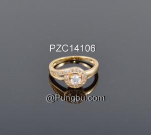 Cincin emas bulat mata PZC14106